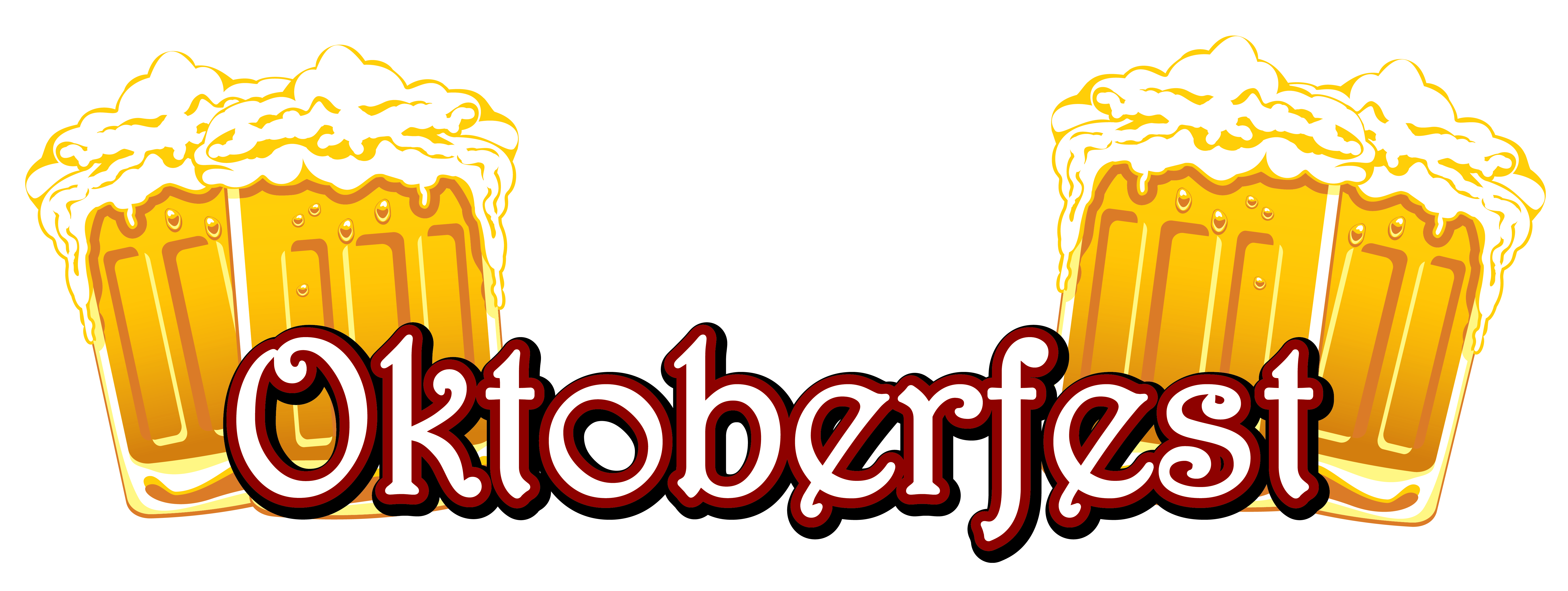 6342x2393 Oktoberfest Text And Beers Png Clipart Imageu200b Gallery