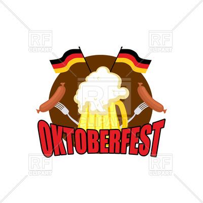 400x400 Oktoberfest Emblem. Beer Festival In Germany. Royalty Free Vector