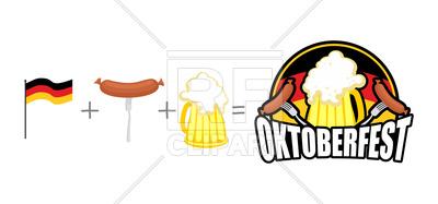 400x187 Oktoberfest. Emblem For Beer Festival In Germany. Royalty Free