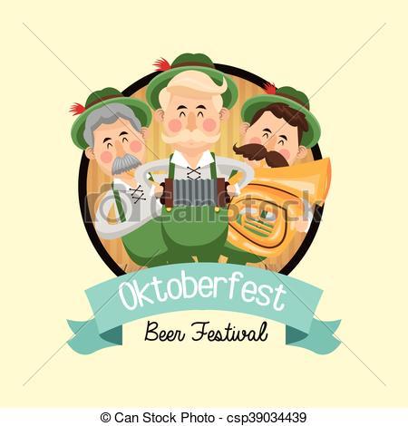 450x470 Cartoon Man Oktoberfest Icon. Vector Graphic. Cartoon Man
