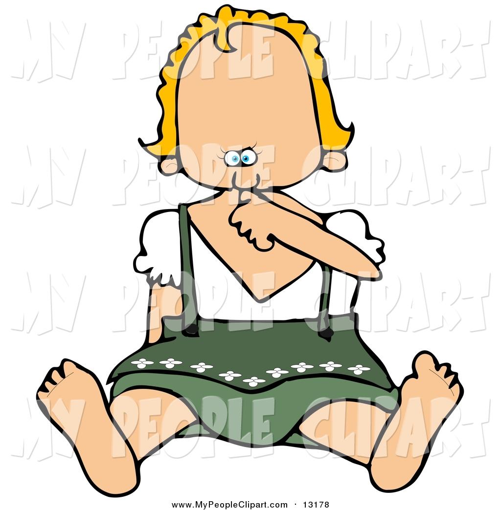 1024x1044 Clip Art Of A Oktoberfest Baby Girl Sucking Her Thumb By Djart
