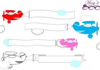 350x247 Airplane Clipart With Banners Banner Plane Pencil And In Color