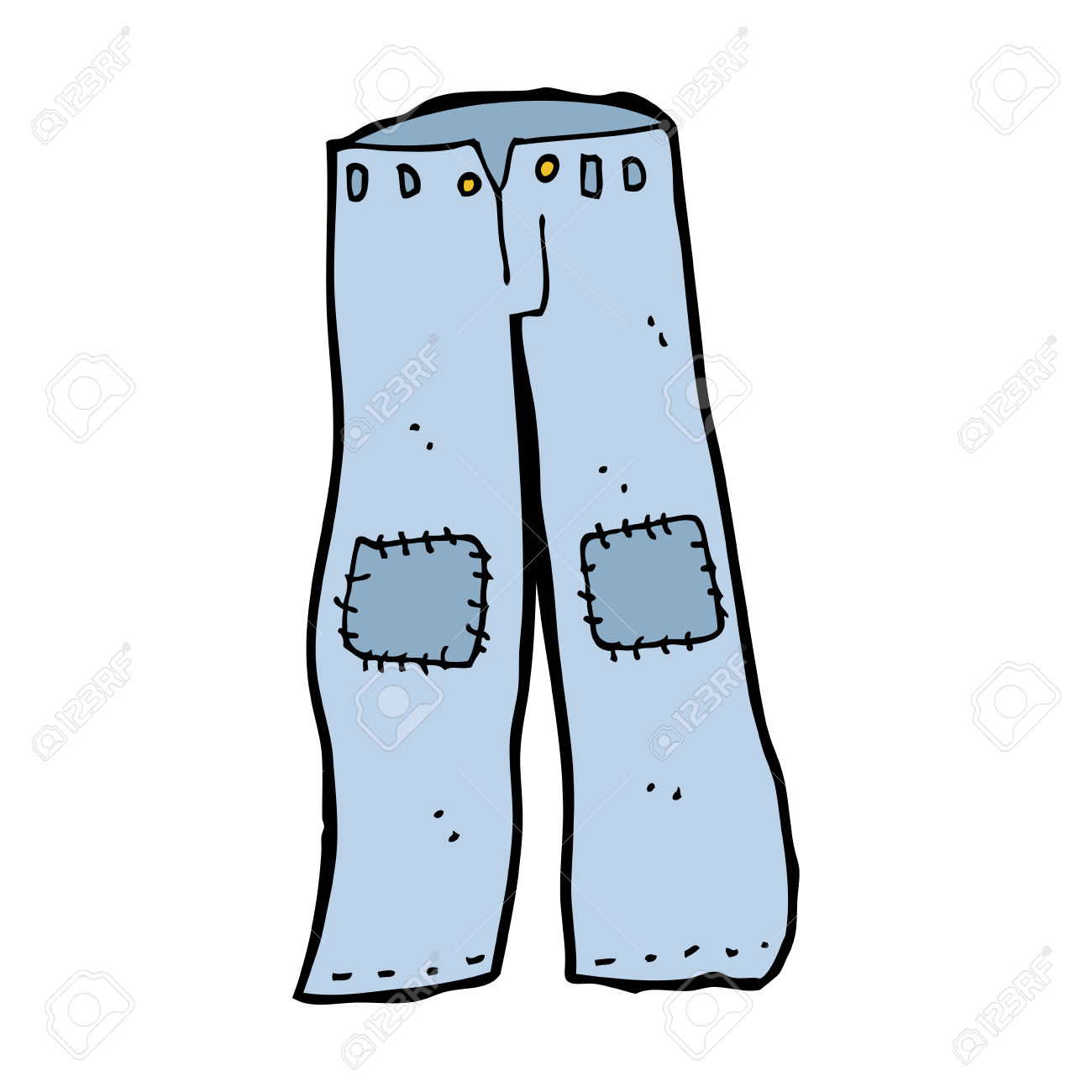 1300x1300 Clip Art Old Jeans Clipart