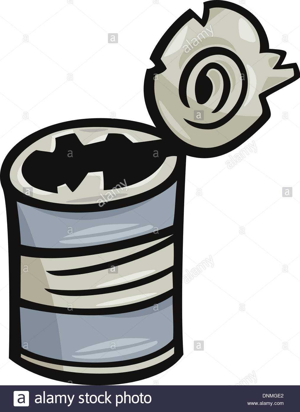 1014x1390 Cartoon Illustration Of Old Empty Can Junk Clip Art Stock Vector