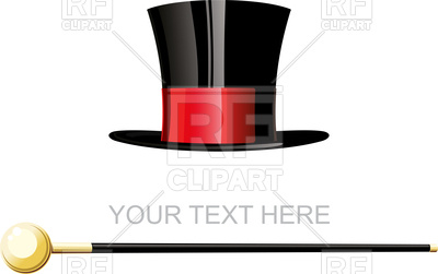 400x251 Old Cylinder Or Magician Cane Royalty Free Vector Clip Art Image