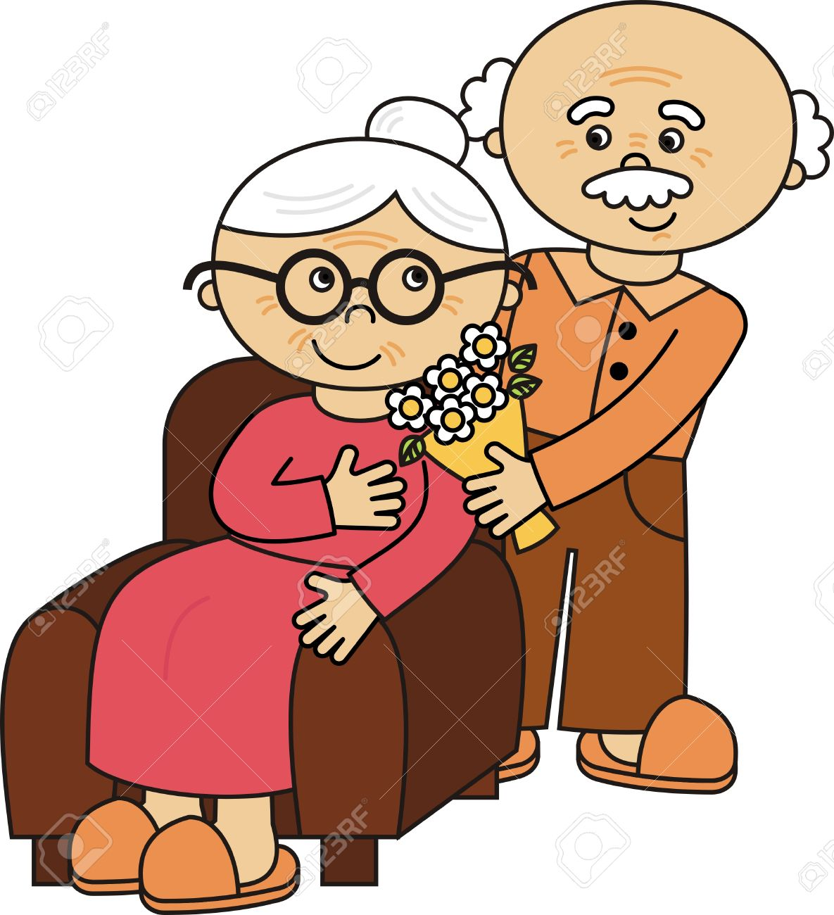 1185x1300 Couple Clipart Old Age 3193243