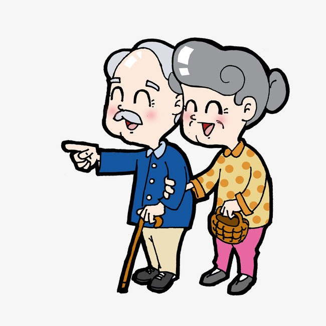 650x650 Elderly Couple, Chung Yeung Festival, Old People, Sunset Png Image