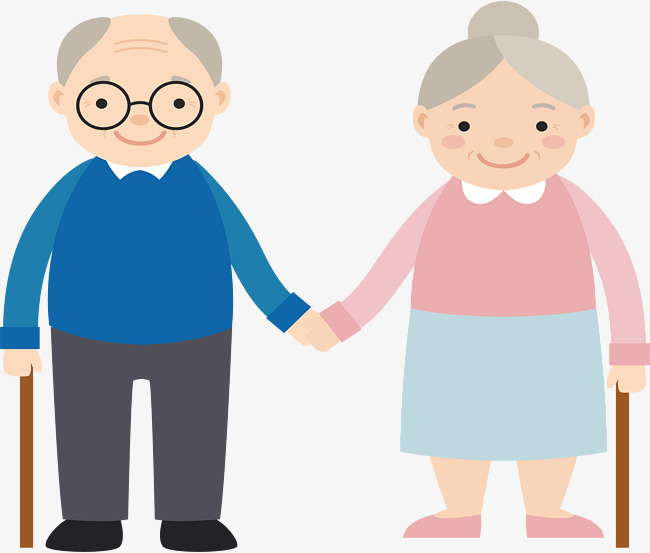 650x553 Hand In The Grandparents, Vector Png, Happy Old Couple, Old