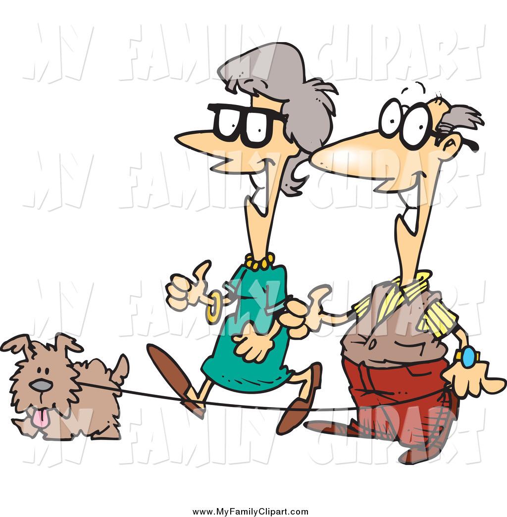 1024x1044 Happy Old Couple Cartoon
