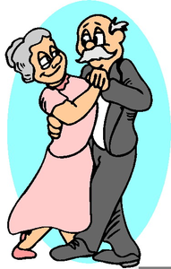191x300 Old Couple Dancing Clipart Free Images