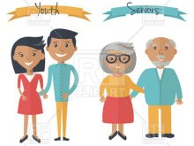 220x165 Old Young Clipart