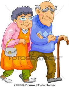 236x300 Old Couple Clip Art Clipart Of Happy Old Couple K17863415 Search