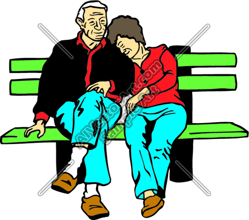 500x443 Oldcouple Clipart And Vectorart People