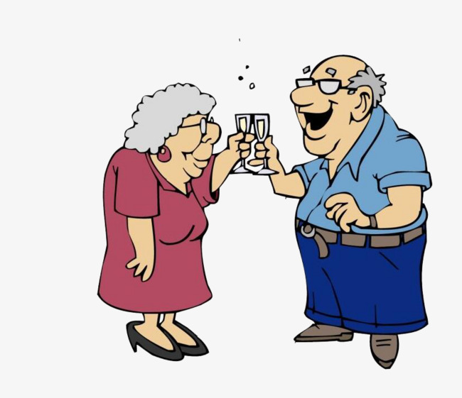 650x561 An Old Couple, Old Couple, Old Man, Cheers Png Image And Clipart