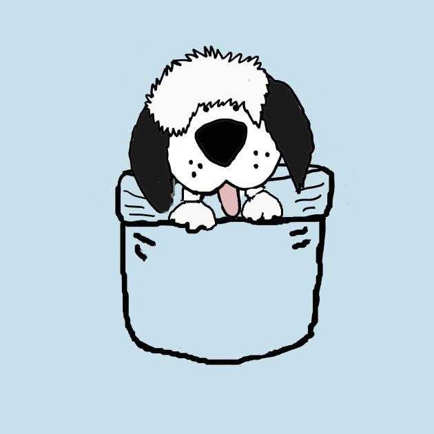 630x630 Funny Old English Sheepdog In Shirt Pocket Art
