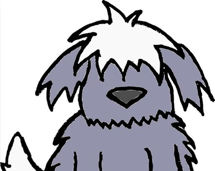 441x352 Just Scruffy Dog Cartoon Old English Sheepdog Canvas Prints By