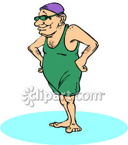 264x300 Old Man Wearing An Old Fashioned Bathing Suit