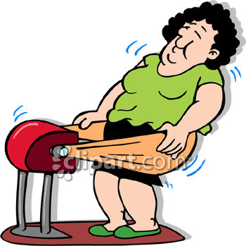 350x349 Woman Using An Old Fashioned Fat Jiggler Fitness Device
