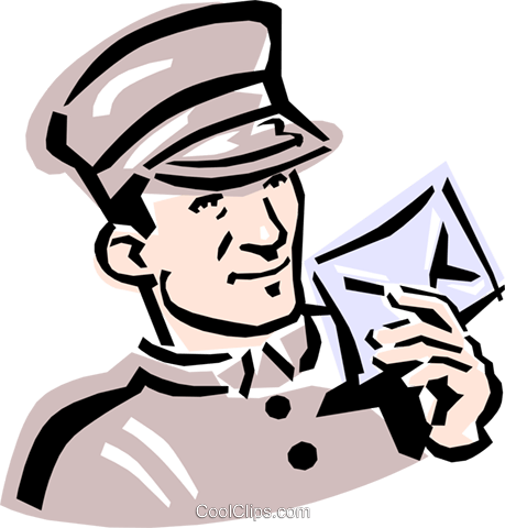 459x480 Old Fashioned Mailman Royalty Free Vector Clip Art Illustration