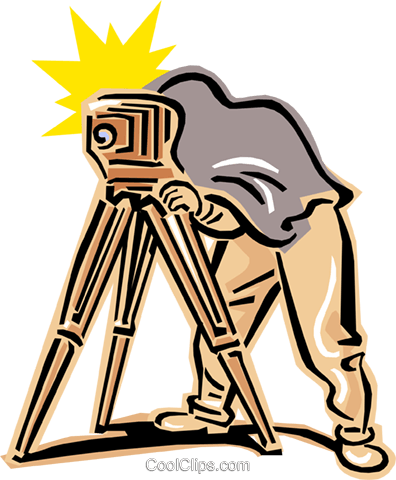 396x480 Old Fashioned Photographer Royalty Free Vector Clip Art