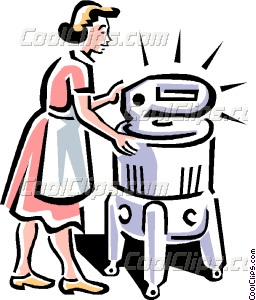 256x300 Old Fashioned Washing Machine Vector Clip Art