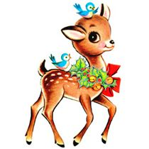 210x210 Free Retro Christmas Clip Art
