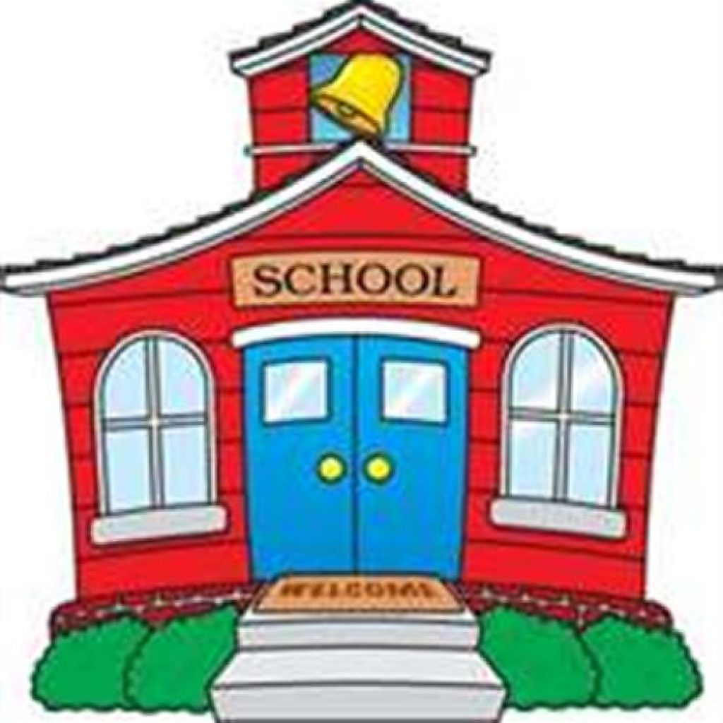 1024x1024 Old School House Clip Art Free