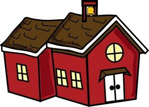 300x217 Old Fashioned School House Clipart