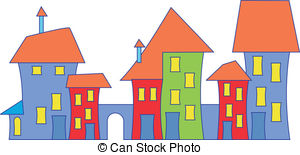 300x155 Stylized Image Of An Old Town House Vector Illustration