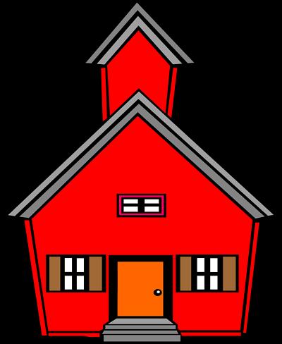 400x488 Unique Old School House Clip