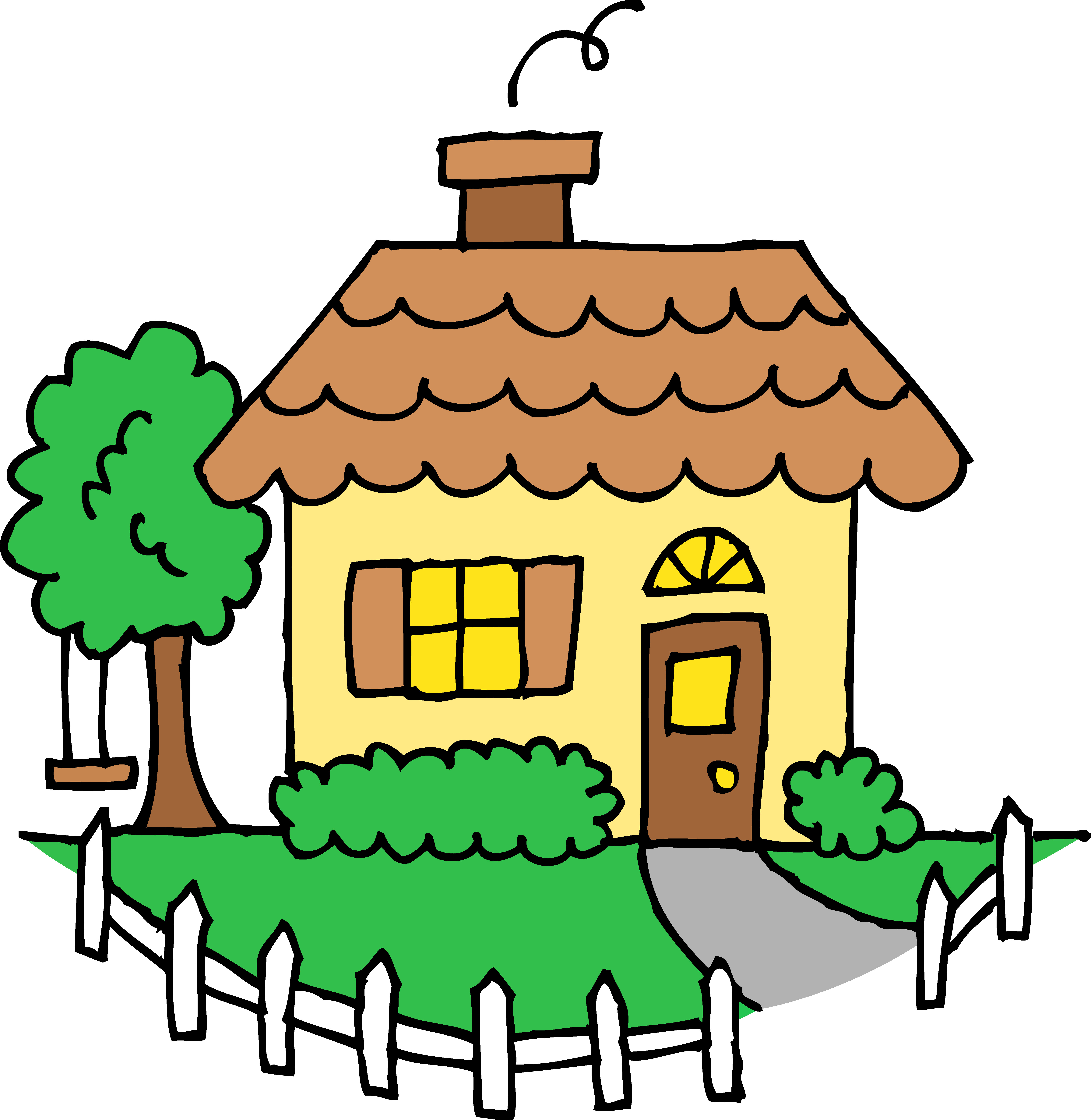 5765x5916 Clipart Of Houses Free