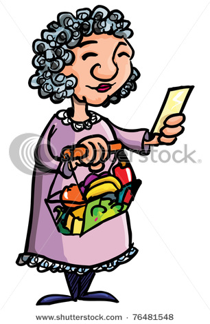 306x470 Chinese Old Lady Clipart