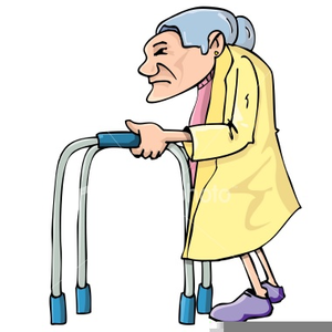 300x300 Old Lady Walker Clipart Free Images