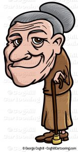 154x300 Old Lady Cartoon Clip Art Cartoon Little Old Lady Clip Art Stock