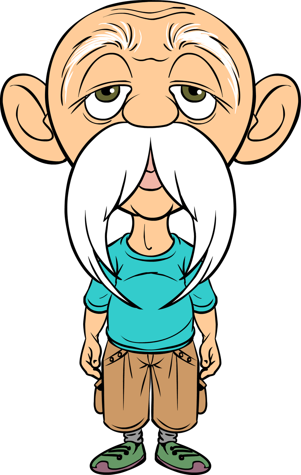 1016x1600 Old Man Cartoon