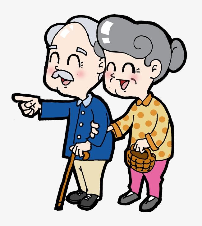650x727 Cute Cartoon Elderly, Lovely, Cartoon, Old People Png Image