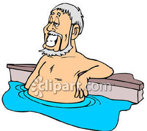 300x267 Grinning Old Man In A Pool