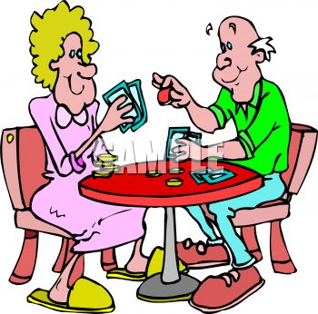 350x346 Old People Playing Cards Clipart