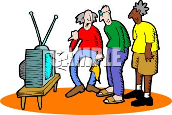 350x235 Old People Watching Televsion
