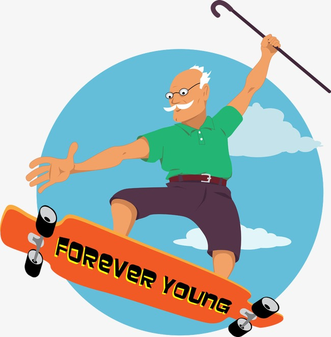 650x662 Skateboarding Grandfather, The Aged, Old People, Skateboard Png