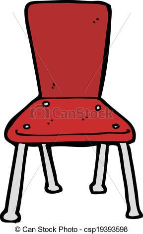 288x470 Cartoon old school chair eps vectors
