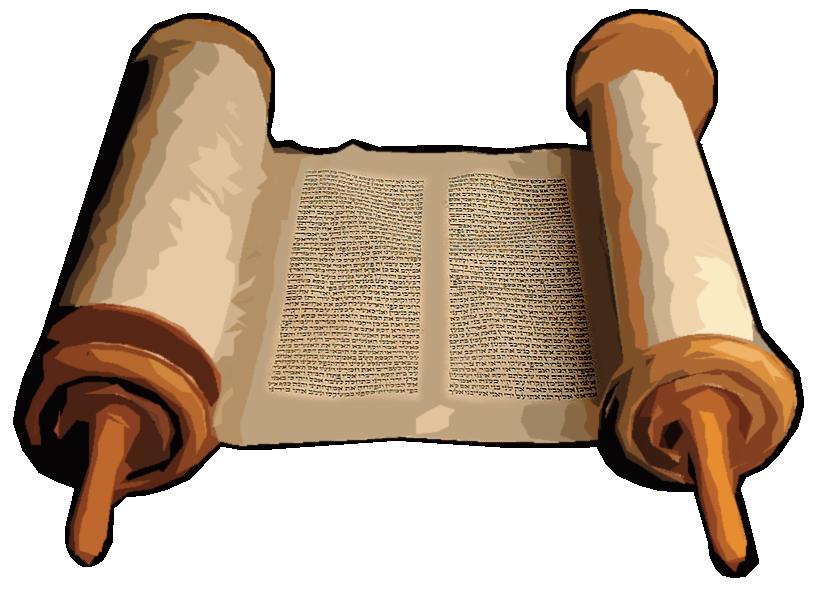 820x589 Old Testament Scroll Clipart