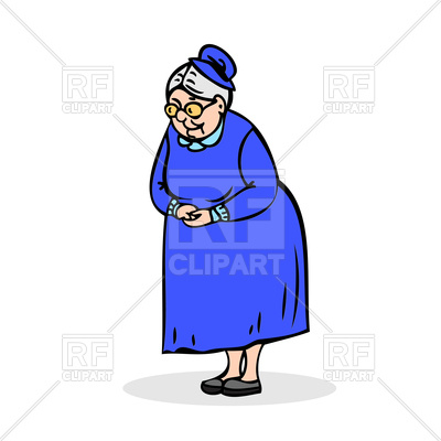 400x400 Grandmother Standing With Folded Hands Royalty Free Vector Clip