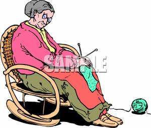 300x254 Old Lady Knitting Clipart