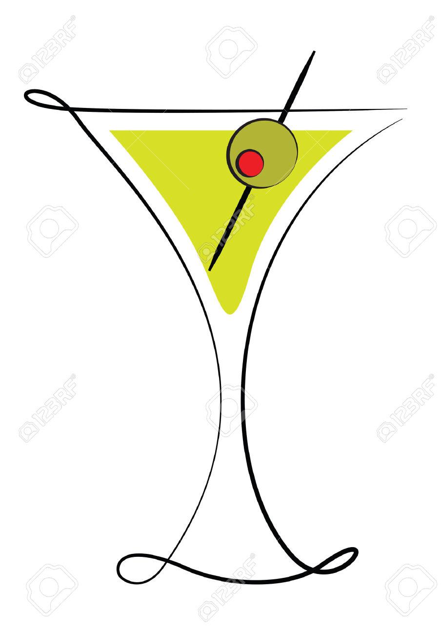 906x1300 Olive Clipart Martini