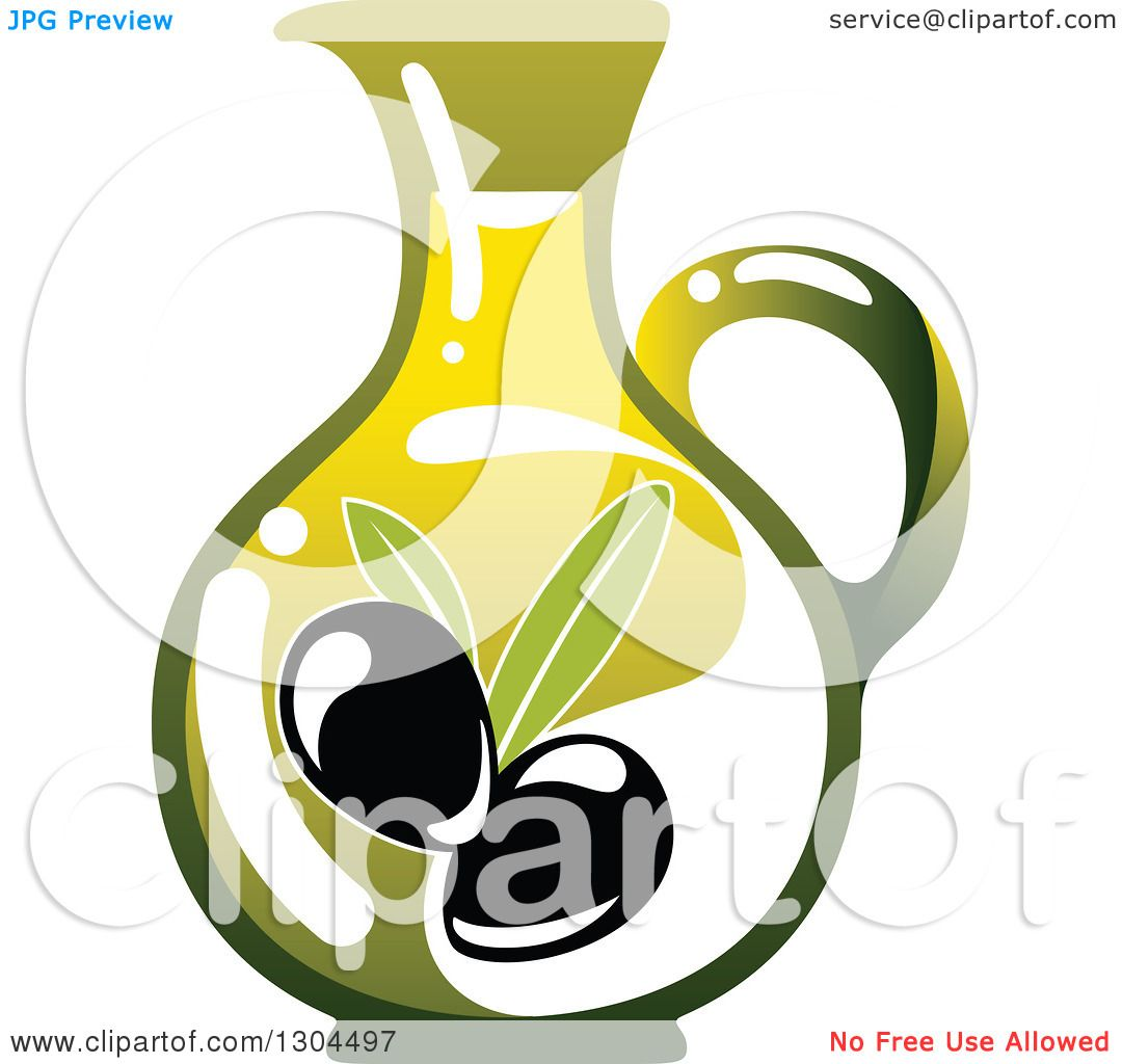 1080x1024 Clipart Of A Pitcher Of Olive Oil