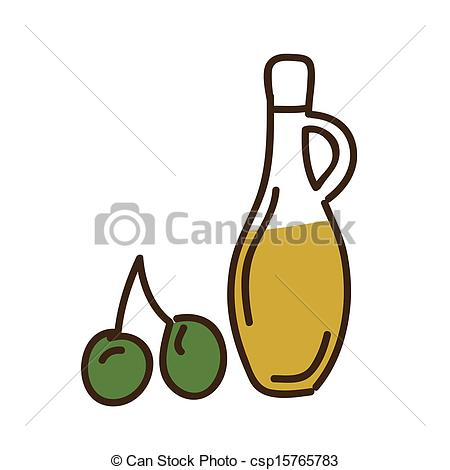 450x470 Olive Oil Over White Background Vector Illustration Vector