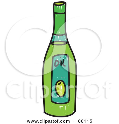 450x470 Royalty Free (Rf) Clipart Illustration A Sketched Bottle