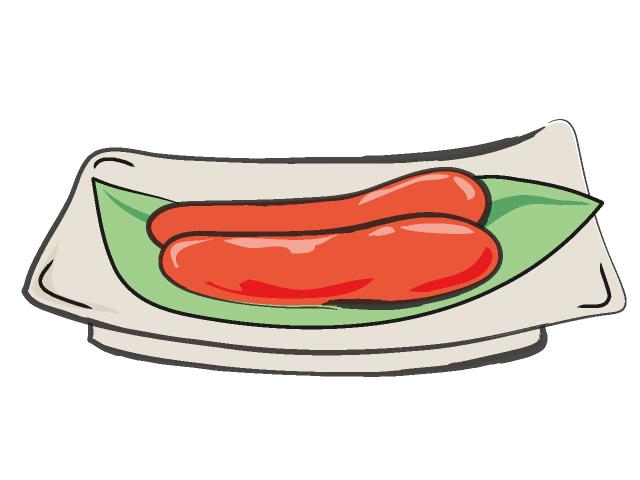 640x480 Tarako Mentaiko Food Illustration Free Clip Art Material