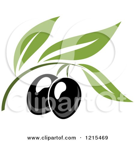 450x470 Clipart Graphic Of A Green Olive Branch And Oil Bottle Label